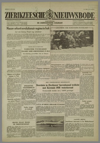 Zierikzeesche Nieuwsbode 1958-07-15