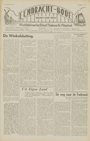 Eendrachtbode (1945-heden)/Mededeelingenblad voor het eiland Tholen (1944/45) 1949-02-04