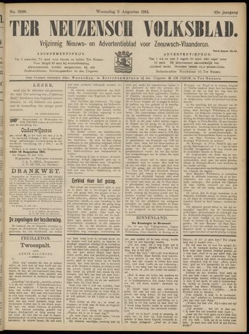 Ter Neuzensch Volksblad. Vrijzinnig nieuws- en advertentieblad voor Zeeuwsch- Vlaanderen / Zeeuwsch Nieuwsblad. Nieuws- en advertentieblad voor Zeeland 1911-08-02
