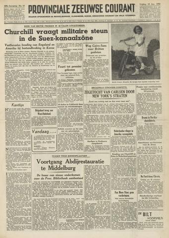 Provinciale Zeeuwse Courant 1952-01-18