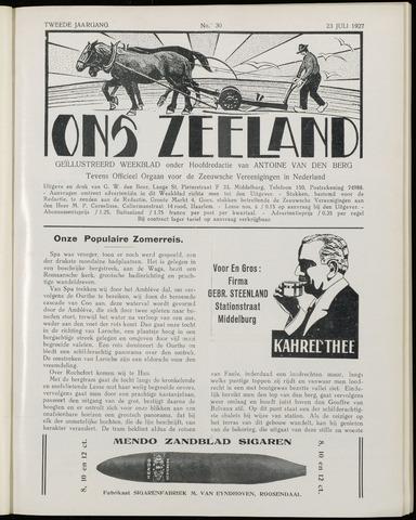 Ons Zeeland / Zeeuwsche editie 1927-07-23