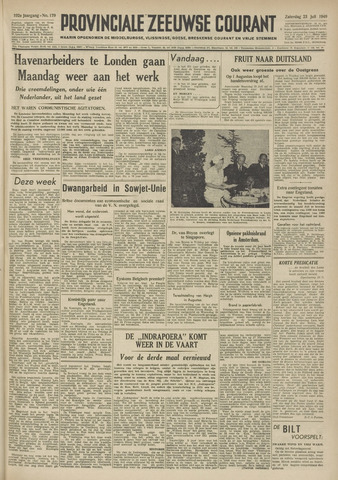 Provinciale Zeeuwse Courant 1949-07-23