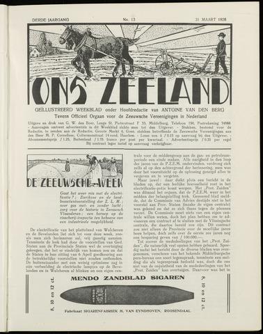 Ons Zeeland / Zeeuwsche editie 1928-03-31