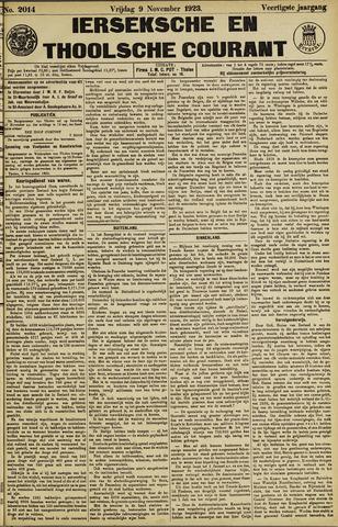 Ierseksche en Thoolsche Courant 1923-11-09