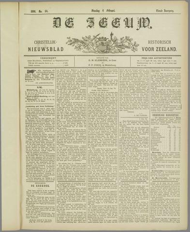De Zeeuw. Christelijk-historisch nieuwsblad voor Zeeland 1896-02-04