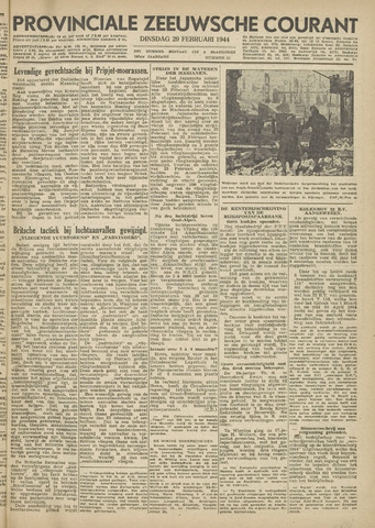 Provinciale Zeeuwse Courant 1944-02-29