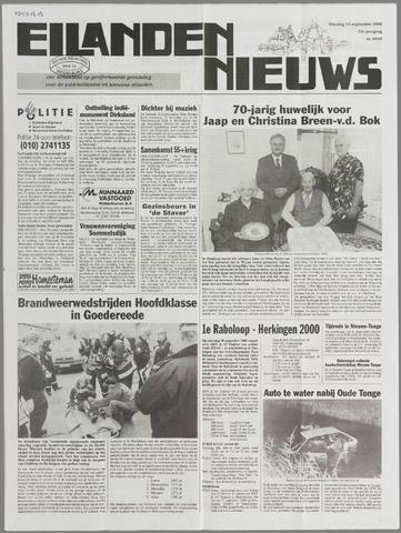 Eilanden-nieuws. Christelijk streekblad op gereformeerde grondslag 2000-09-19