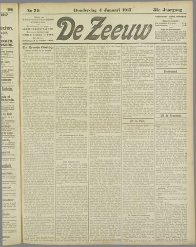 De Zeeuw. Christelijk-historisch nieuwsblad voor Zeeland 1917-01-04