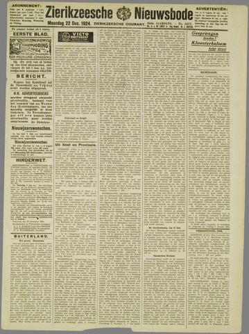 Zierikzeesche Nieuwsbode 1924-12-22