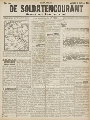 De Soldatencourant. Orgaan voor Leger en Vloot 1915-10-03