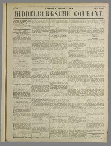 Middelburgsche Courant 1919-02-03