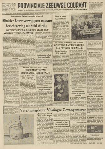 Provinciale Zeeuwse Courant 1960-04-12