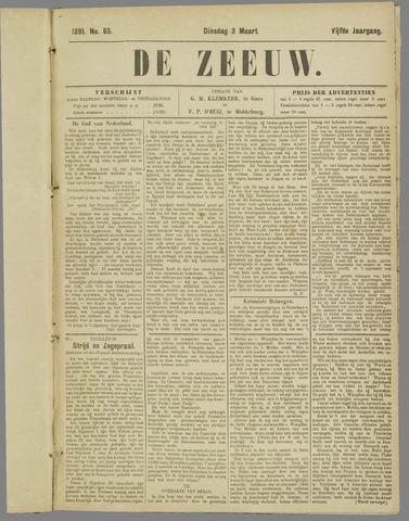 De Zeeuw. Christelijk-historisch nieuwsblad voor Zeeland 1891-03-03