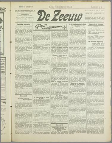 De Zeeuw. Christelijk-historisch nieuwsblad voor Zeeland 1937-01-19