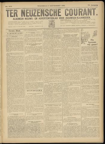 Ter Neuzensche Courant. Algemeen Nieuws- en Advertentieblad voor Zeeuwsch-Vlaanderen / Neuzensche Courant ... (idem) / (Algemeen) nieuws en advertentieblad voor Zeeuwsch-Vlaanderen 1933-09-06