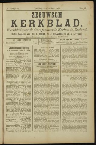Zeeuwsche kerkbode, weekblad gewijd aan de belangen der gereformeerde kerken/ Zeeuwsch kerkblad 1903-10-23