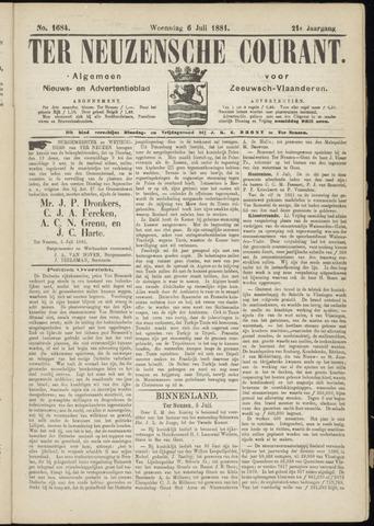 Ter Neuzensche Courant. Algemeen Nieuws- en Advertentieblad voor Zeeuwsch-Vlaanderen / Neuzensche Courant ... (idem) / (Algemeen) nieuws en advertentieblad voor Zeeuwsch-Vlaanderen 1881-07-06