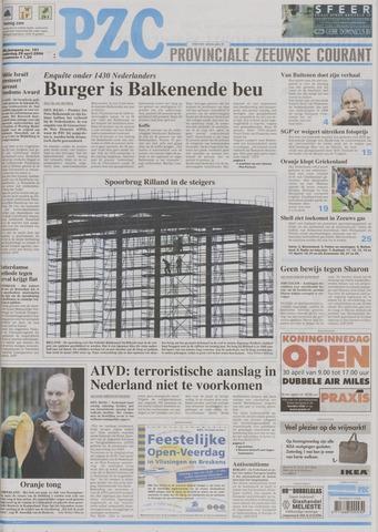 Provinciale Zeeuwse Courant 2004-04-29