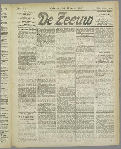 De Zeeuw. Christelijk-historisch nieuwsblad voor Zeeland 1918-10-27