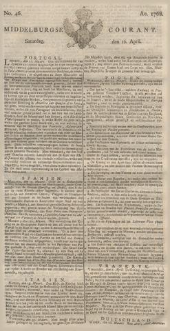 Middelburgsche Courant 1768-04-16
