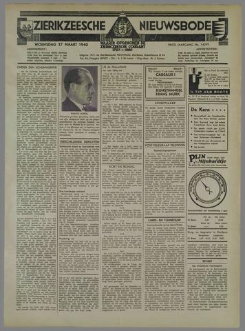 Zierikzeesche Nieuwsbode 1940-03-27