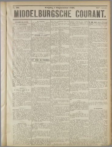 Middelburgsche Courant 1922-09-01