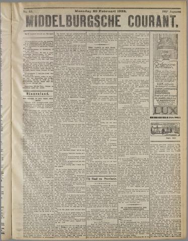 Middelburgsche Courant 1922-02-20
