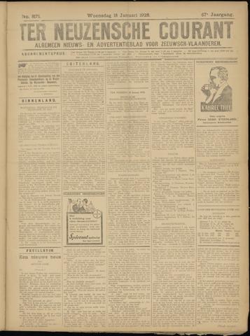 Ter Neuzensche Courant. Algemeen Nieuws- en Advertentieblad voor Zeeuwsch-Vlaanderen / Neuzensche Courant ... (idem) / (Algemeen) nieuws en advertentieblad voor Zeeuwsch-Vlaanderen 1928-01-18
