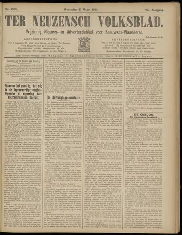 Ter Neuzensch Volksblad. Vrijzinnig nieuws- en advertentieblad voor Zeeuwsch- Vlaanderen / Zeeuwsch Nieuwsblad. Nieuws- en advertentieblad voor Zeeland 1916-03-22