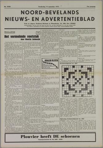 Noord-Bevelands Nieuws- en advertentieblad 1972-09-14
