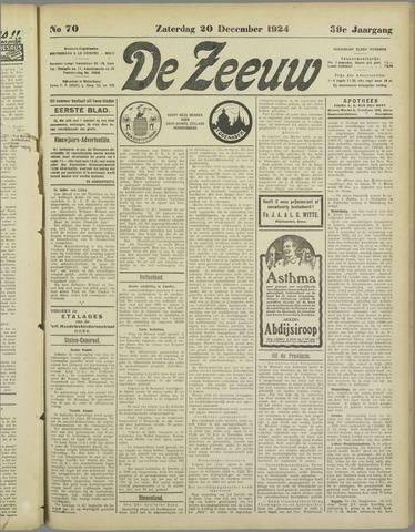 De Zeeuw. Christelijk-historisch nieuwsblad voor Zeeland 1924-12-20