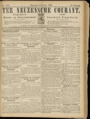 Ter Neuzensche Courant. Algemeen Nieuws- en Advertentieblad voor Zeeuwsch-Vlaanderen / Neuzensche Courant ... (idem) / (Algemeen) nieuws en advertentieblad voor Zeeuwsch-Vlaanderen 1905-10-12
