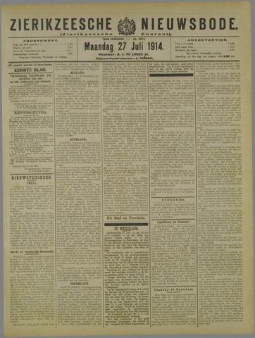 Zierikzeesche Nieuwsbode 1914-07-27