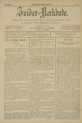Zuider Kerkbode, Weekblad gewijd aan de belangen der gereformeerde kerken in Zeeland, Noord-Brabant en Limburg. 1897-02-19