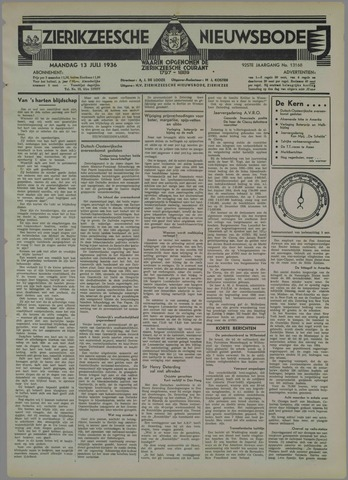 Zierikzeesche Nieuwsbode 1936-07-13