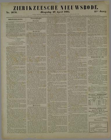 Zierikzeesche Nieuwsbode 1885-04-28