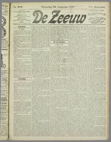 De Zeeuw. Christelijk-historisch nieuwsblad voor Zeeland 1920-08-30