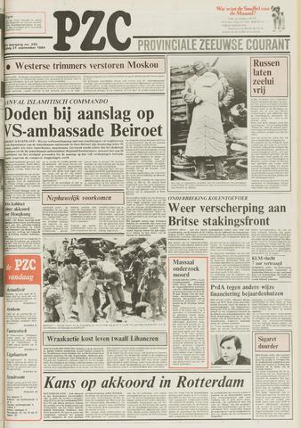 Provinciale Zeeuwse Courant 1984-09-21