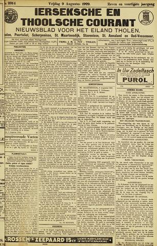 Ierseksche en Thoolsche Courant 1929-08-09