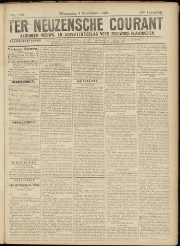 Ter Neuzensche Courant. Algemeen Nieuws- en Advertentieblad voor Zeeuwsch-Vlaanderen / Neuzensche Courant ... (idem) / (Algemeen) nieuws en advertentieblad voor Zeeuwsch-Vlaanderen 1926-11-03