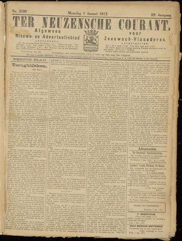 Ter Neuzensche Courant. Algemeen Nieuws- en Advertentieblad voor Zeeuwsch-Vlaanderen / Neuzensche Courant ... (idem) / (Algemeen) nieuws en advertentieblad voor Zeeuwsch-Vlaanderen 1912-01-01