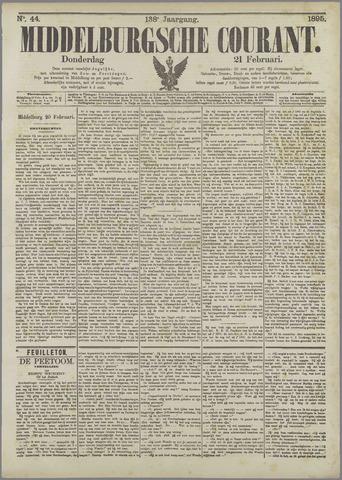 Middelburgsche Courant 1895-02-21