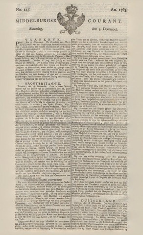 Middelburgsche Courant 1763-12-03