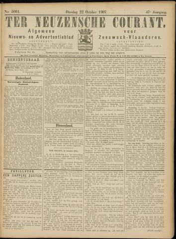 Ter Neuzensche Courant. Algemeen Nieuws- en Advertentieblad voor Zeeuwsch-Vlaanderen / Neuzensche Courant ... (idem) / (Algemeen) nieuws en advertentieblad voor Zeeuwsch-Vlaanderen 1907-10-22