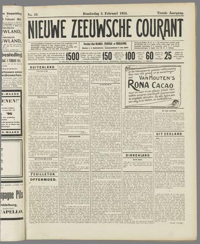 Nieuwe Zeeuwsche Courant 1914-02-05