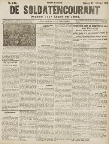 De Soldatencourant. Orgaan voor Leger en Vloot 1916-02-25