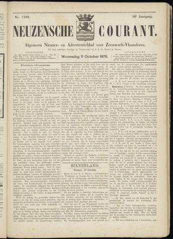 Ter Neuzensche Courant. Algemeen Nieuws- en Advertentieblad voor Zeeuwsch-Vlaanderen / Neuzensche Courant ... (idem) / (Algemeen) nieuws en advertentieblad voor Zeeuwsch-Vlaanderen 1876-10-11