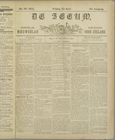 De Zeeuw. Christelijk-historisch nieuwsblad voor Zeeland 1902-04-25