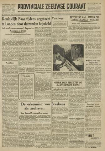 Provinciale Zeeuwse Courant 1950-11-22