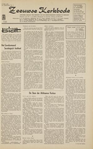 Zeeuwsche kerkbode, weekblad gewijd aan de belangen der gereformeerde kerken/ Zeeuwsch kerkblad 1963-07-19